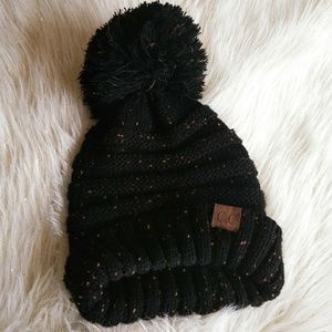 ✨CC Slouchy Beanie with Big Poof